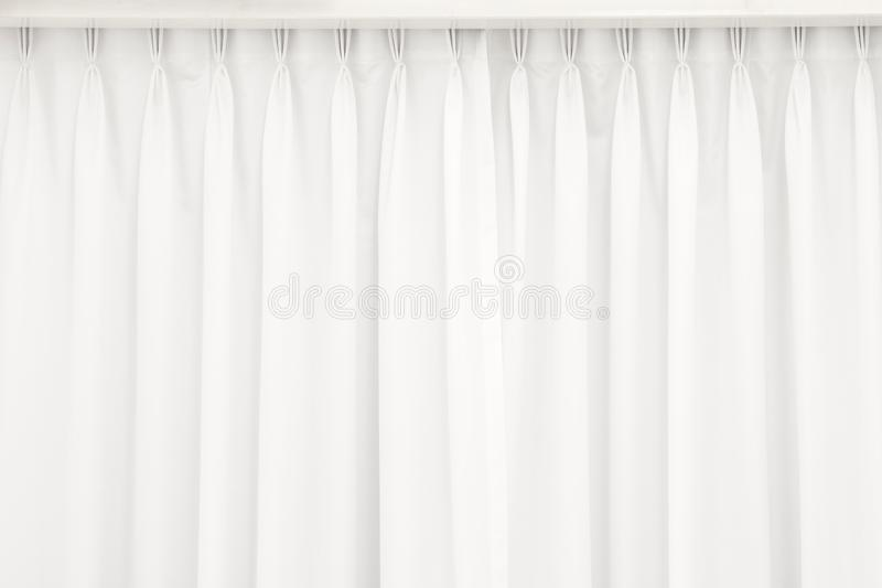 White curtain background. Abstract of drape backdrop. Texture royalty free stock photo
