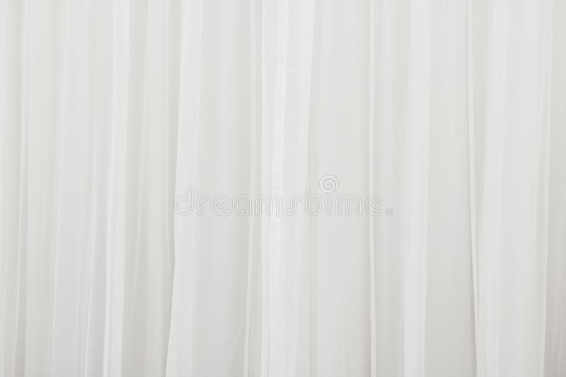 White curtain background. Abstract of drape backdrop. Texture stock photo