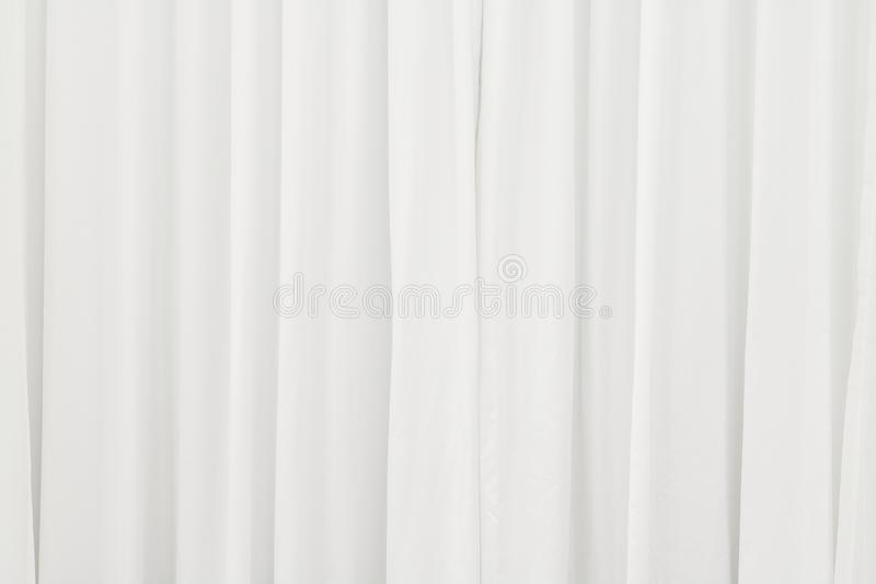White curtain background. Abstract of drape backdrop stock photography