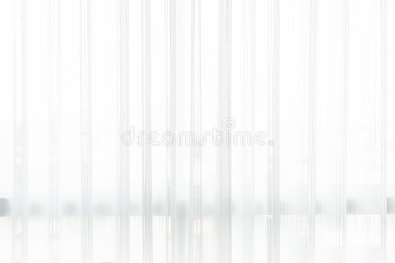 White curtain background. Closeup detail white curtain background stock photo