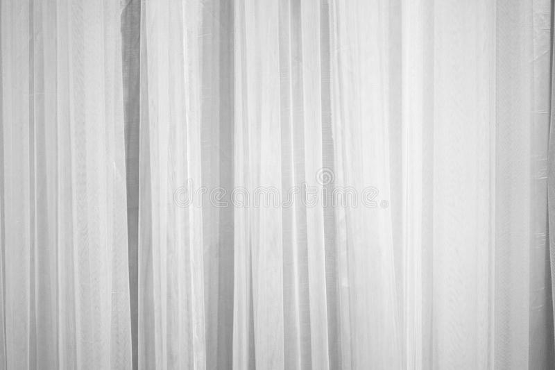 White curtain fabric pattern surface texture. Close-up of interior material for design decoration background royalty free stock image