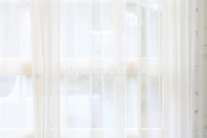 White curtain and window background. Morning backdrops stock images