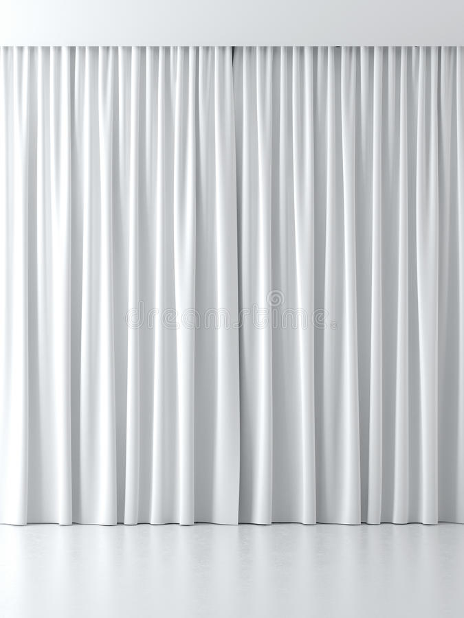 White curtains. Isolated on a white background royalty free illustration