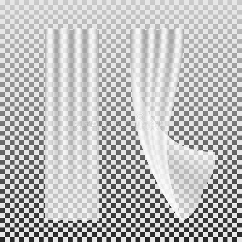 White curtains 1 stock illustration