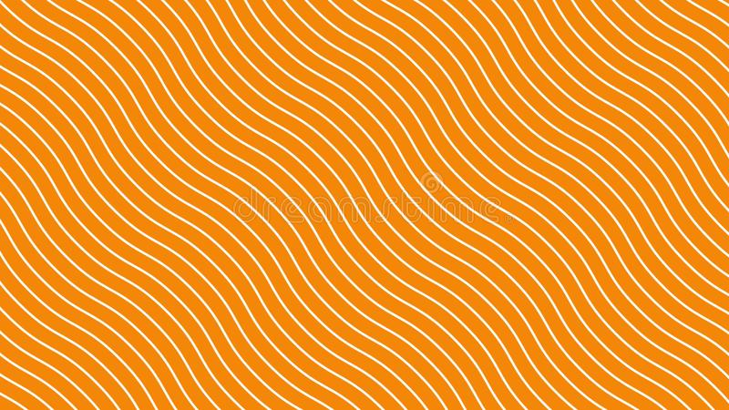 White curved lines in dynamic wave motion, orange background. Future geometric diagonal lines patterns motion background. 3d. Illustration vector illustration