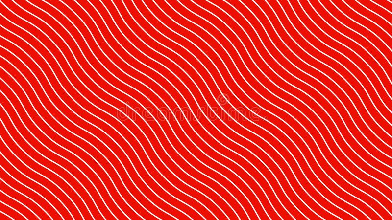 White curved lines in dynamic wave motion, red background. Future geometric diagonal lines patterns motion background. 3d stock illustration