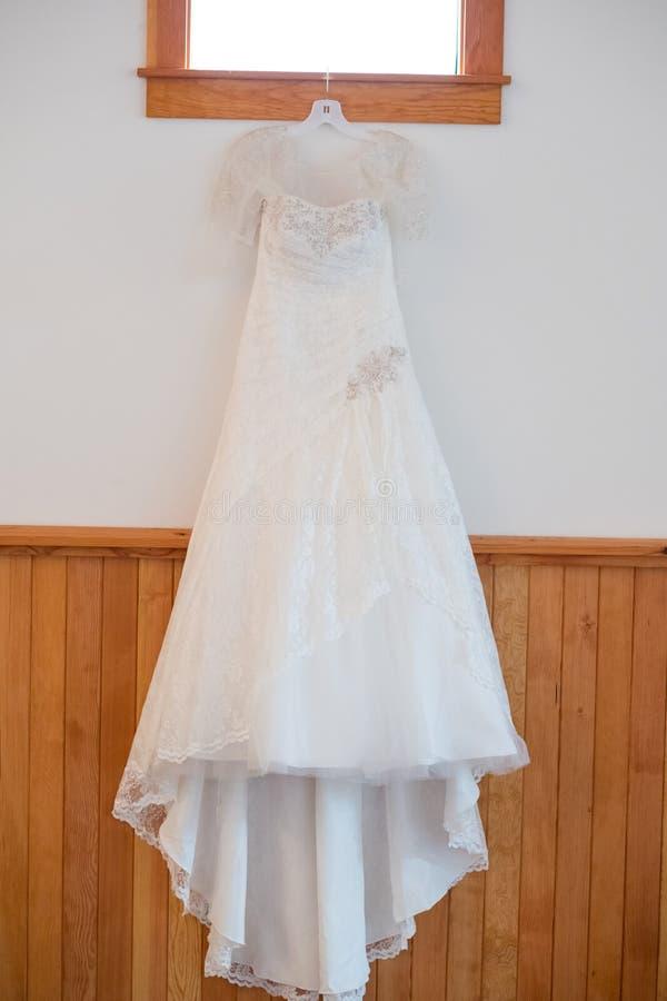 White Custom Wedding Dress royalty free stock images