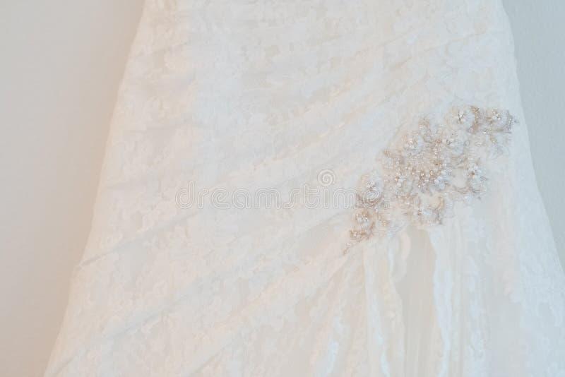 White Custom Wedding Dress stock photos