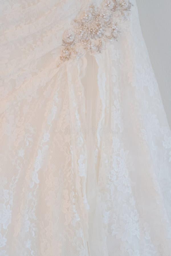 White Custom Wedding Dress royalty free stock image