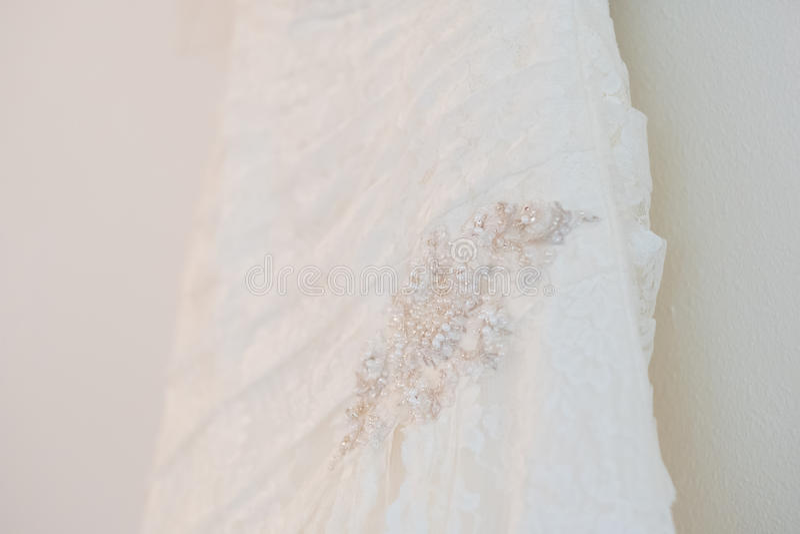 White Custom Wedding Dress royalty free stock photos
