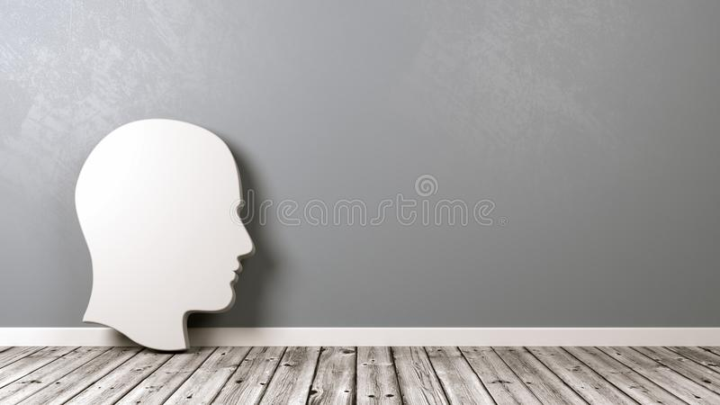 Silhouette of head in home stock illustration