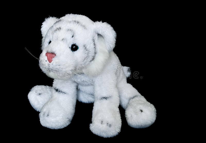 Download White Cute Tiger Cub - Plush Toy Stock Photo - Image: 12452484