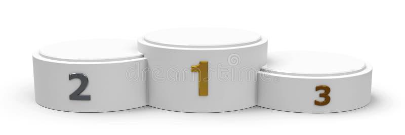 White cylinder wide podium royalty free illustration