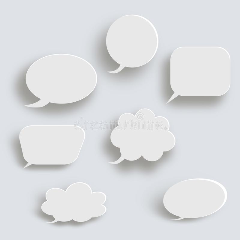 White 3d blank square and rounded button vector set. Button banner round, badge interface for application illustration vector illustration