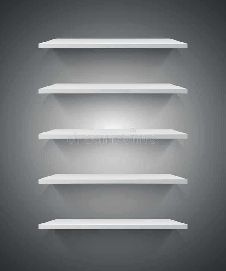 White 3d shelf icon. royalty free illustration