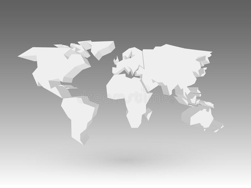 White 3d world map with dropped shadow on grey background eps10 download white 3d world map with dropped shadow on grey background eps10 vector illustration stock gumiabroncs Gallery