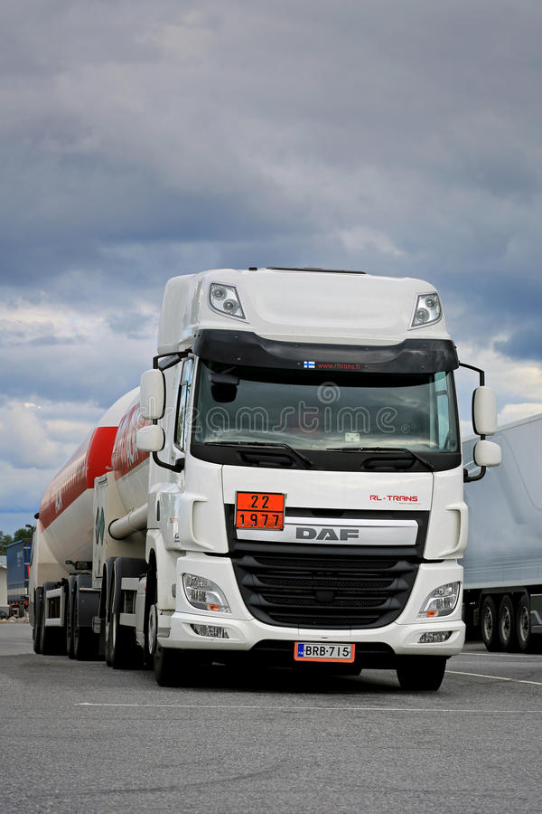 White DAF CF Euro 6 Tank Truck stock photography