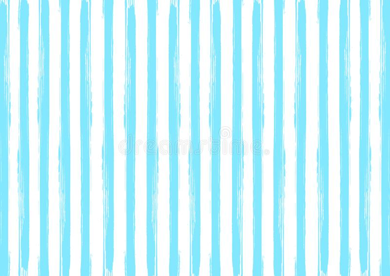 Seamless Vertical Blue Watercolor Stripes Pattern in White Background. Seamless vertical blue watercolor stripes texture for background, backdrop, web design royalty free illustration