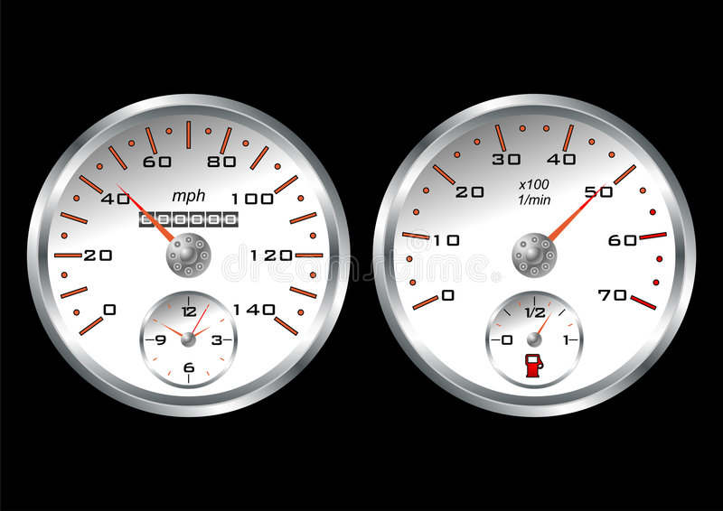 White dashboard stock illustration