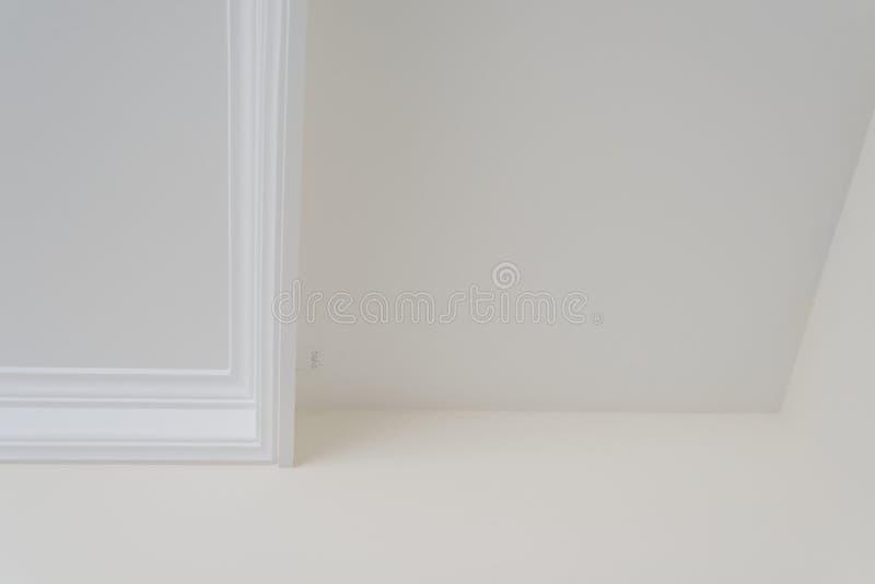 White decorative ceiling molding. royalty free stock image