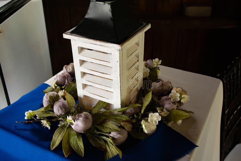 Rustic Lantern for Wedding Decorations stock photo
