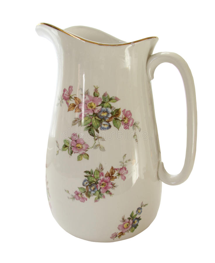 Free White Decorative Water Jug Royalty Free Stock Images - 16408789