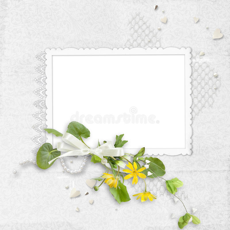 Free White Delicate Frame Royalty Free Stock Images - 15782849