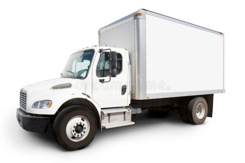 White Delivery Truck royalty free stock image