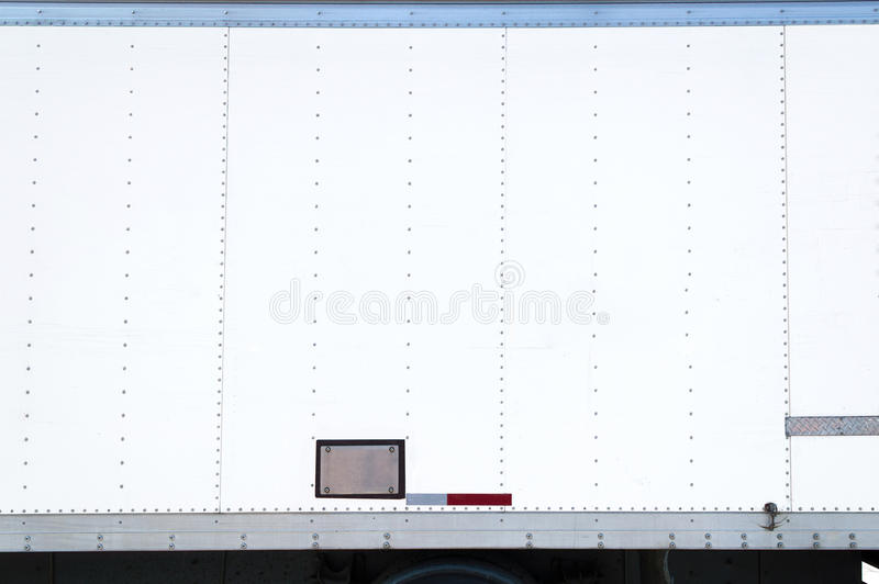 White Delivery Truck With Blank Side