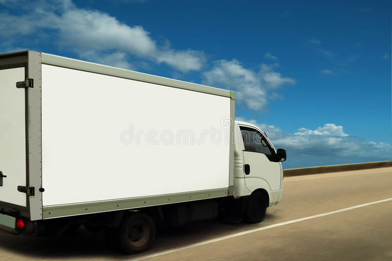 Download White Delivery Van, High (sky) Level Of Service. Stock Photo - Image: 20041824
