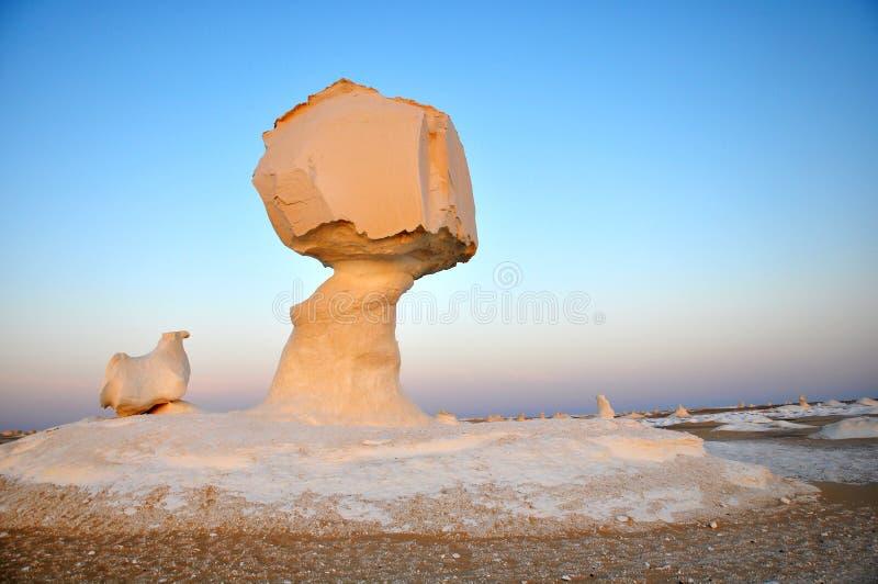 White desert in Egypt royalty free stock images