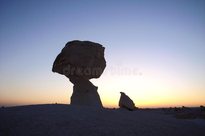 White desert in Egypt royalty free stock image