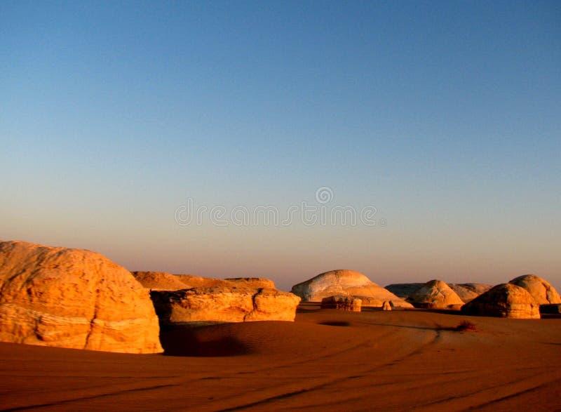 White Desert in Egypt stock photos