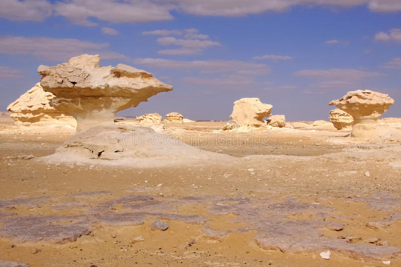 White desert in Egypt royalty free stock photo