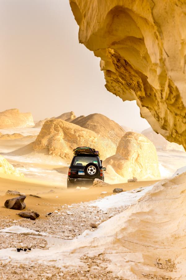 The White Desert at Farafra in the Sahara of Egypt. Africa. Incredible scenery royalty free stock photography