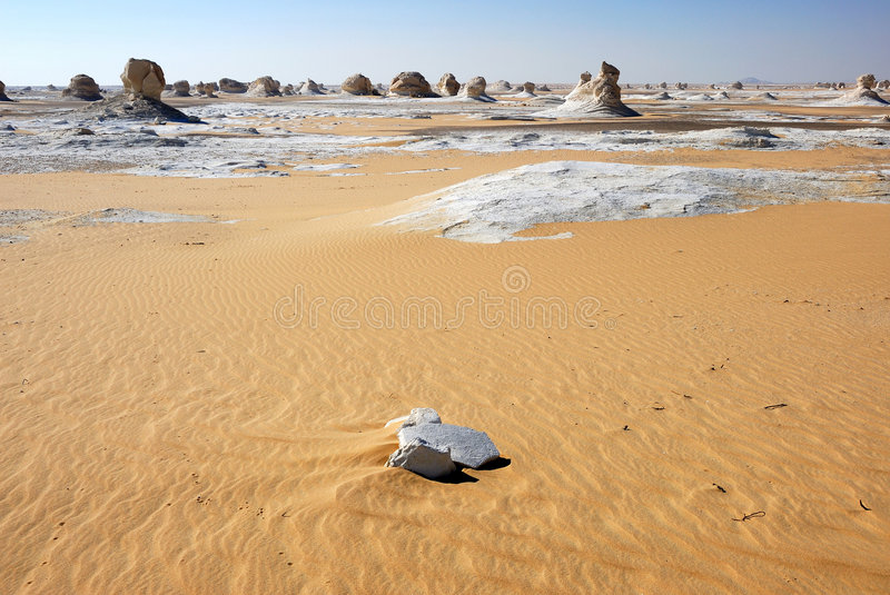 The White desert landscape