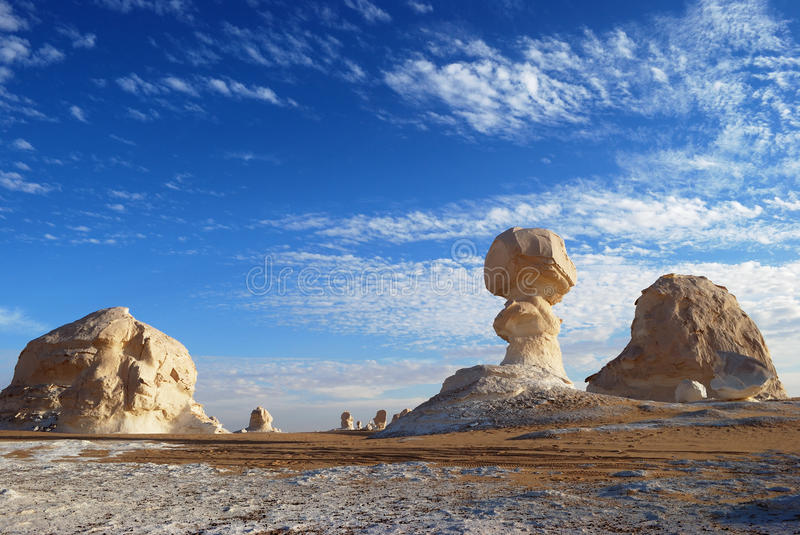 White desert, Sahara. The limestone formation in White desert, Sahara, Egypt royalty free stock photo