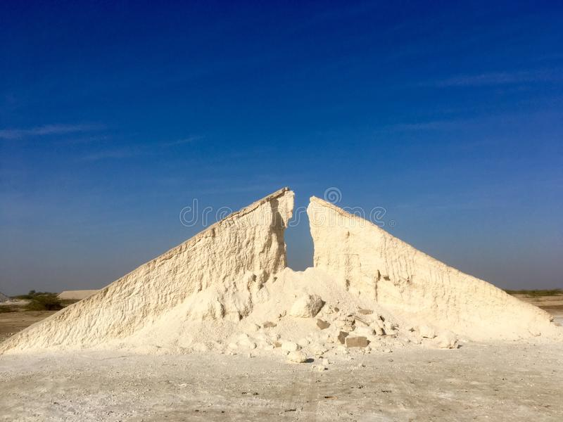 White desert Salt royalty free stock photography