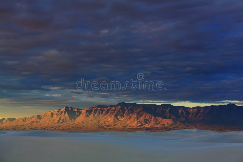 White desert. White Sands Park in USA royalty free stock images