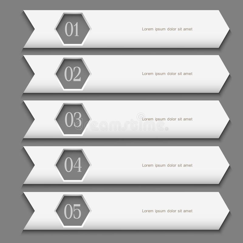 White Design template with stylized arrows royalty free illustration