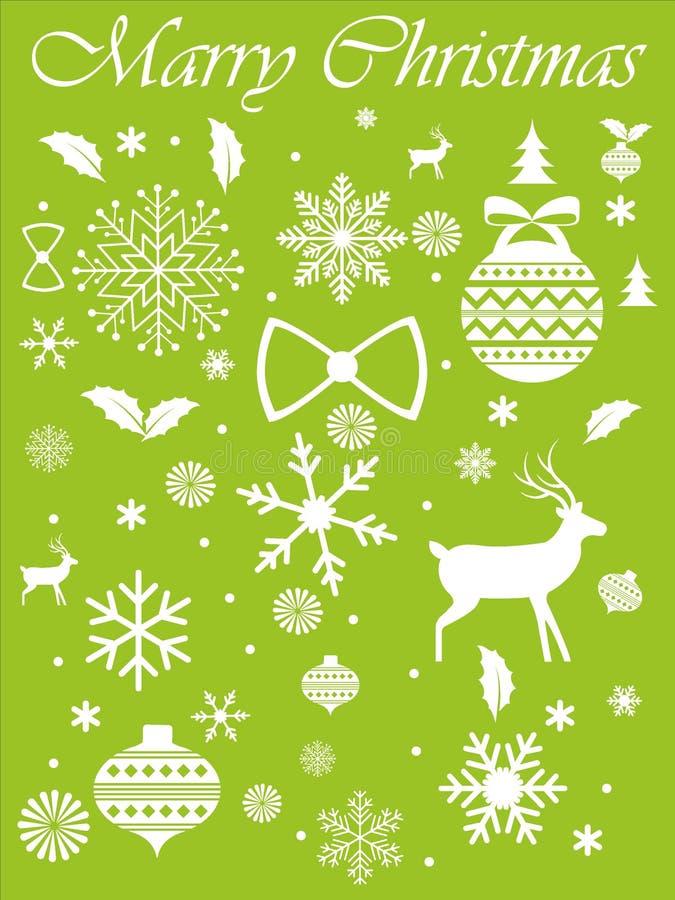 Designer Silhouette Christmas Symbols royalty free illustration