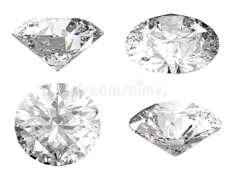 Download White Diamond In Different Angles Stock Illustration - Image: 14637264