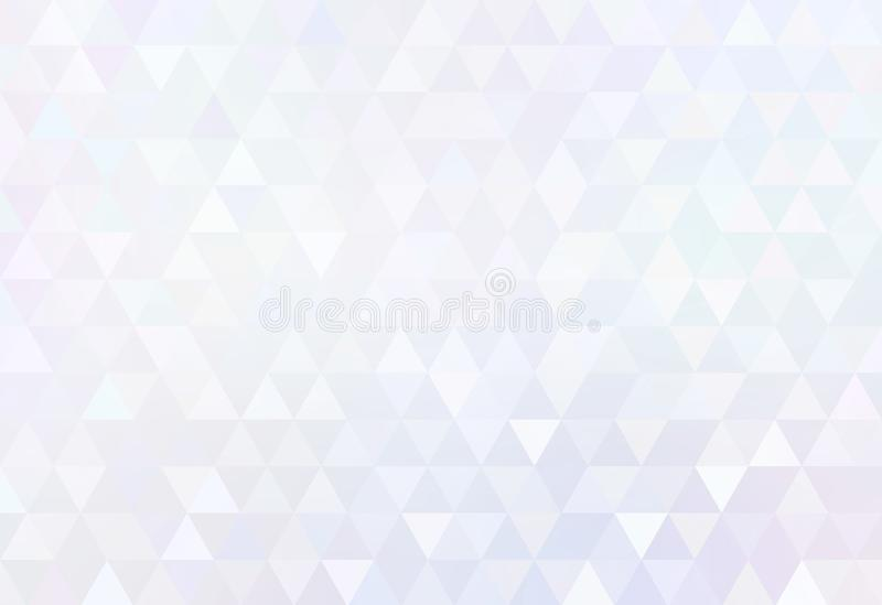 White diamond poligonal abstract pattern. Triangular subtle plain background. Trend creative illustration. royalty free illustration