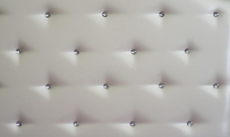 White diamond studded luxury upholstery leather royalty free stock photos