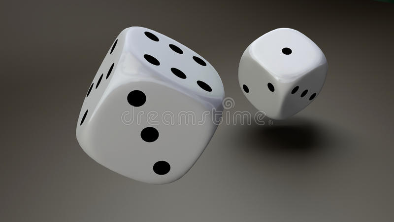 Download White dice closeup stock illustration. Illustration of play - 22133960