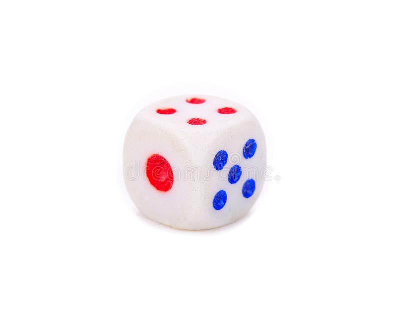 White dice isolated on white background. Game royalty free stock photos