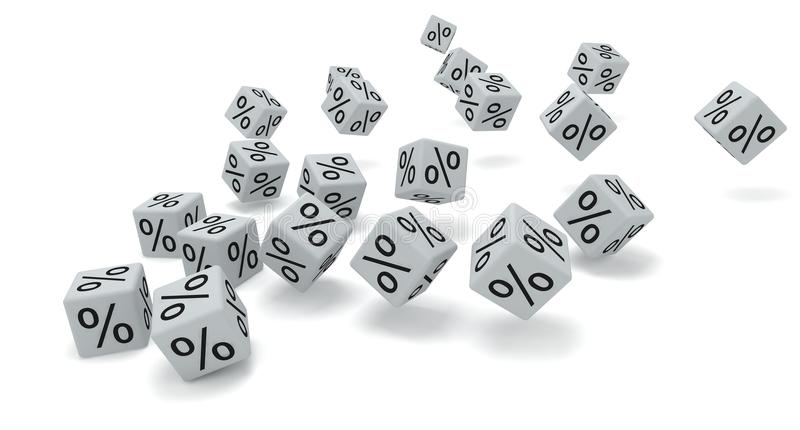 Download White dice percent stock illustration. Image of game - 23266178