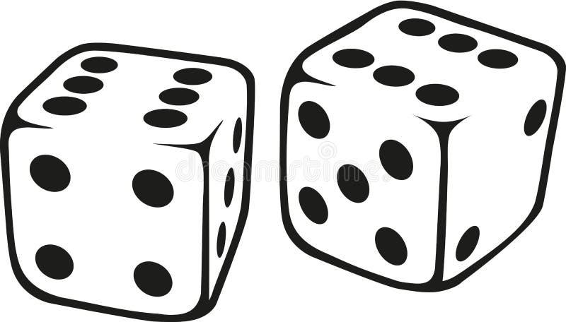 White dice vector vector illustration