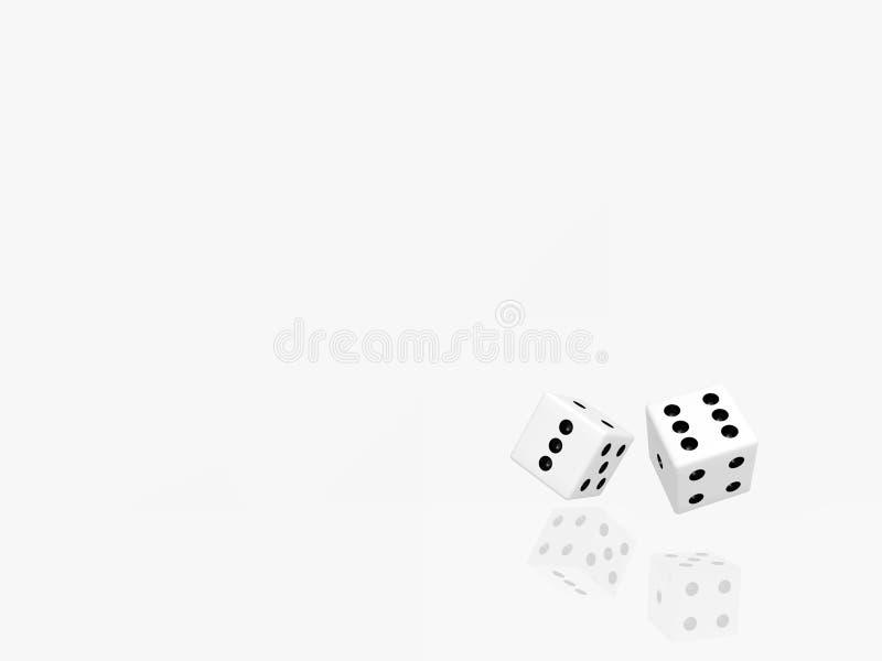 White dices royalty free stock photos
