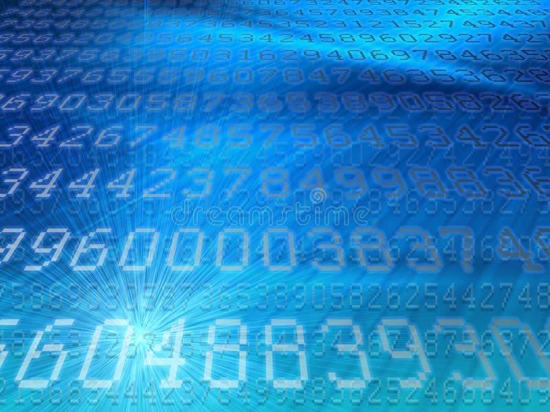 White digital codes on modern blue background